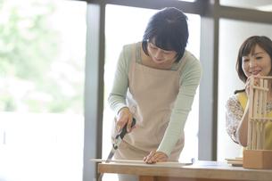 DIYをする中高年女性2人の写真素材 [FYI01343924]