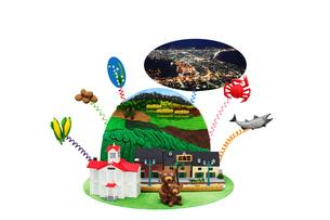 北海道の観光地とご当地名物の写真素材 [FYI01344390]