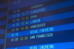 空港の電光掲示板の写真素材 [FYI01344913]