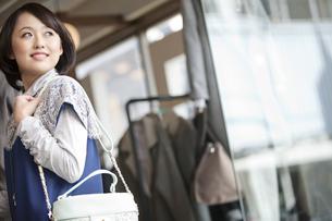 ショッピングをする女性の写真素材 [FYI01345079]