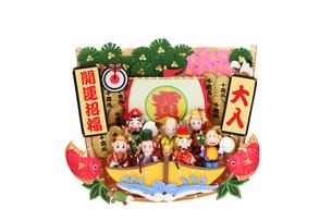 申の七福神と宝船の写真素材 [FYI01345979]