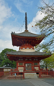 川越大師喜多院 多宝塔の写真素材 [FYI01348425]