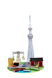 スカイツリーと浅草の観光地の写真素材 [FYI01349621]