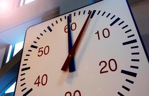 水泳競技用時計の写真素材 [FYI01349940]
