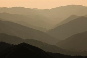 玉置神社から見た山々の風景の写真素材 [FYI01350127]