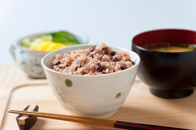 玄米小豆ごはんの写真素材 [FYI01350830]