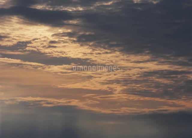 夕暮れの雲の写真素材 [FYI01351263]