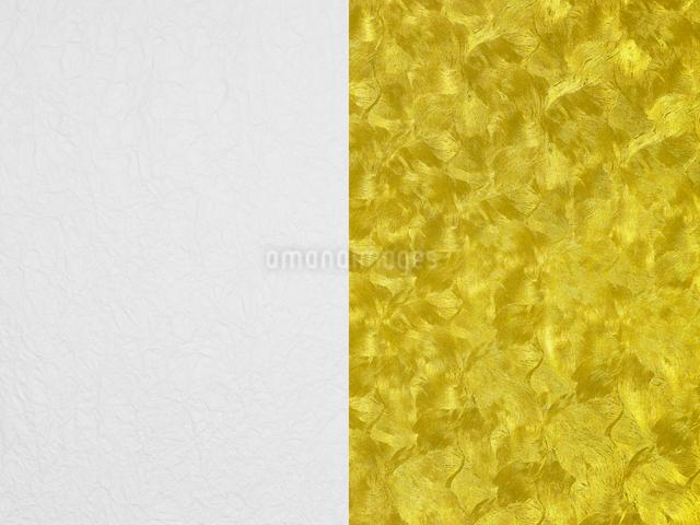 金と白の和風壁紙の写真素材 [FYI01352681]