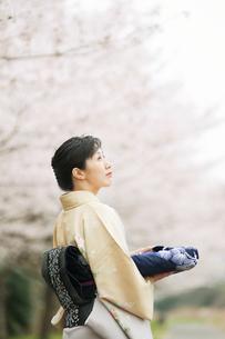 和服の日本人女性の写真素材 [FYI01352689]