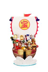 午の七福神と宝船の写真素材 [FYI01352894]
