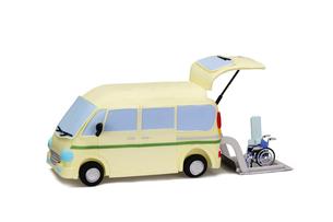 介護車両と車椅子の写真素材 [FYI01353175]