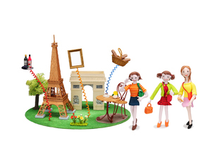フランス パリ 観光地とご当地名産と女性友達の写真素材 [FYI01353553]