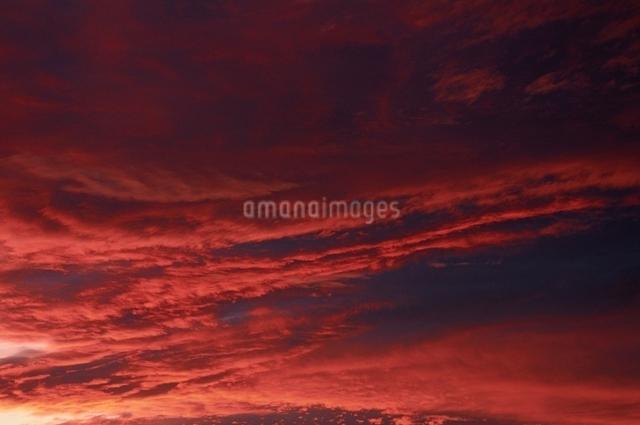 夕焼け 雲の写真素材 [FYI01353966]