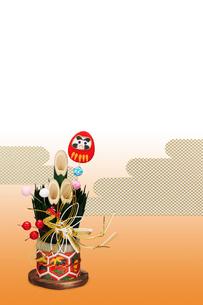 だるまの門松の写真素材 [FYI01354747]
