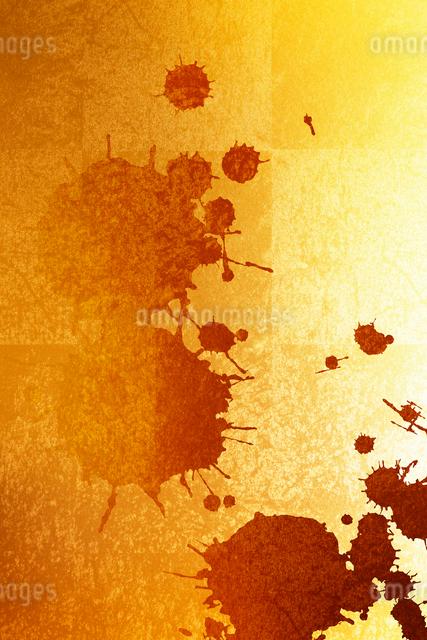 金箔と墨の柄素材の写真素材 [FYI01354845]