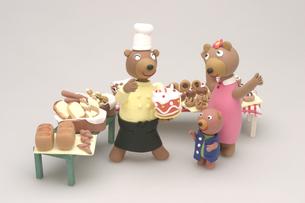 クマのパン屋さんの写真素材 [FYI01356240]