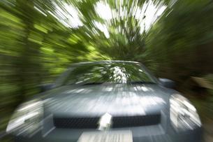 緑の中を走る車の写真素材 [FYI01356375]