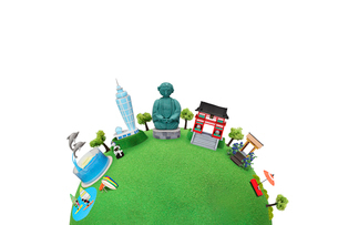 観光地クラフト 鎌倉・江の島の街並の写真素材 [FYI01357086]