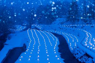 湯西川温泉かまくらライトアップの写真素材 [FYI01359442]