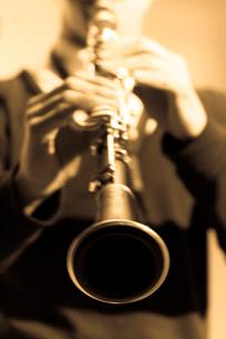 クラリネット奏者の写真素材 [FYI01362284]