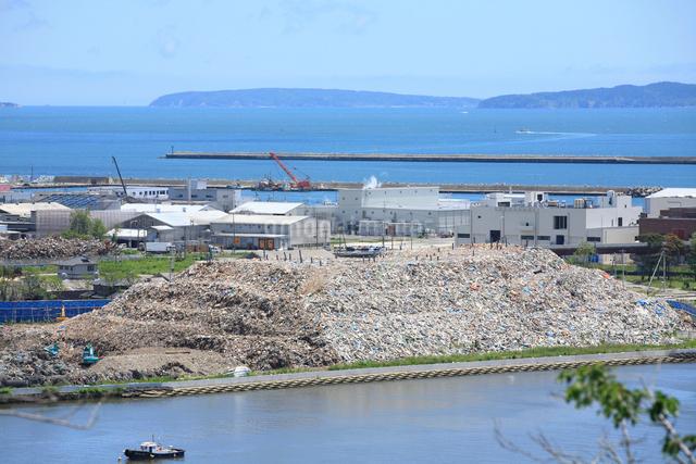 石巻港被災地の写真素材 [FYI01362878]