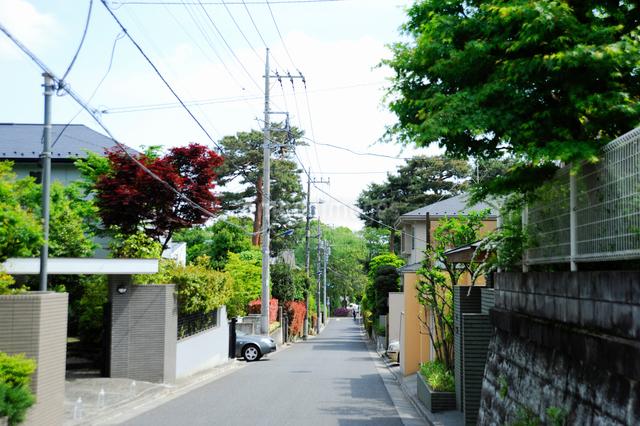 石神井町の住宅街の写真素材 [FYI01364659]