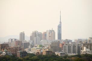 pm2.5で霞んだ福岡市街地の写真素材 [FYI01364758]