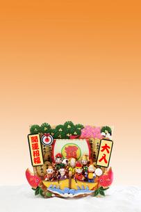 申の七福神と宝船の写真素材 [FYI01366964]
