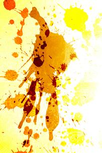 金箔と墨の柄素材の写真素材 [FYI01367816]