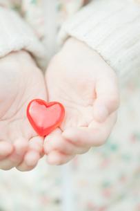 ハートを持つ子供の手の写真素材 [FYI01368060]