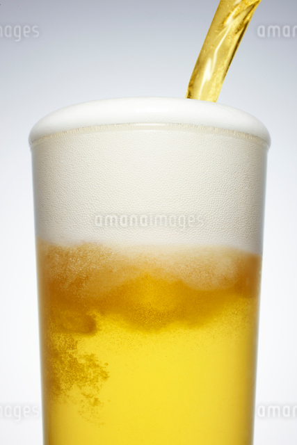 グラスに注がれるビールの写真素材 [FYI01368262]