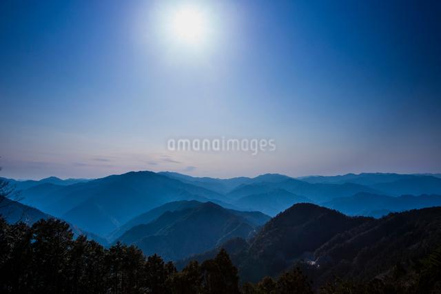 玉置神社から見た山々の風景の写真素材 [FYI01368271]