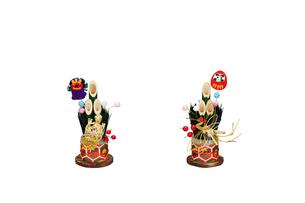 だるまと獅子舞の門松の写真素材 [FYI01368714]