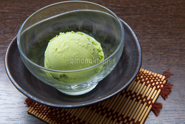 抹茶アイスの写真素材 [FYI01369354]