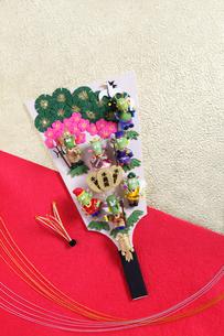 七福神の辰の羽子板の写真素材 [FYI01370563]