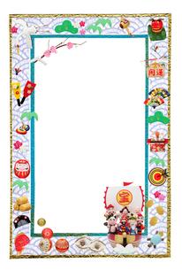 七福神の宝船とフレームの写真素材 [FYI01371095]