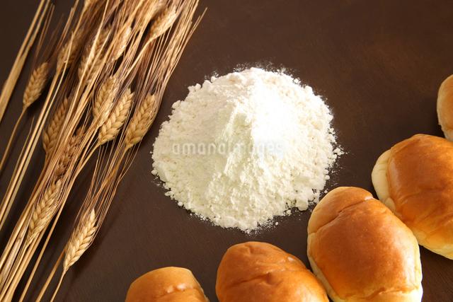 麦と小麦粉とパンの写真素材 [FYI01372474]