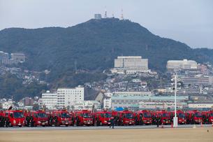 長崎市の消防出初式の写真素材 [FYI01372596]
