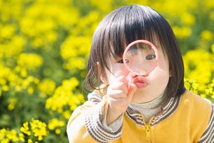 シャボン玉を吹こうとしてる女の子の写真素材 [FYI01373441]