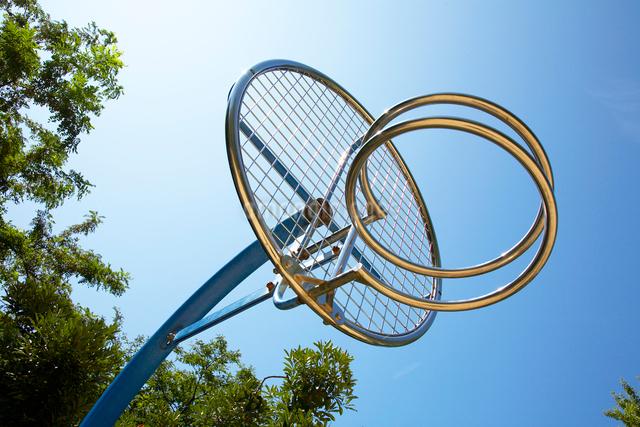 バスケットゴールの写真素材 [FYI01373531]