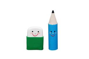 消しゴムと鉛筆の写真素材 [FYI01373573]
