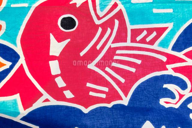 大漁旗の写真素材 [FYI01373574]