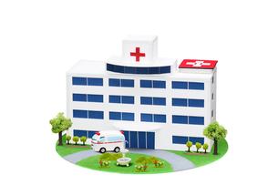 病院と救急車の写真素材 [FYI01374298]