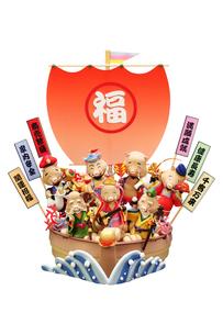 亥の七福神と宝船の写真素材 [FYI01374918]