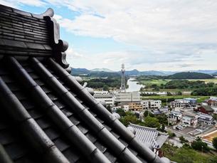 福知山城天守閣から見た福知山市内の写真素材 [FYI01377039]