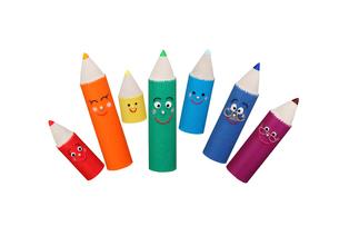色鉛筆の家族の写真素材 [FYI01377068]