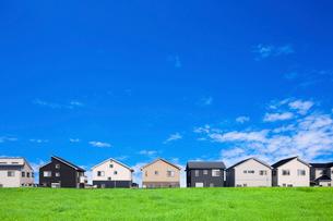 青空と町並みの写真素材 [FYI01378072]