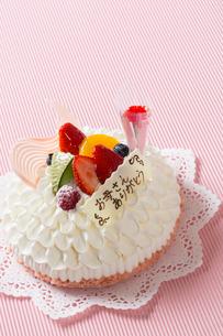 母の日ケーキの写真素材 [FYI01379977]