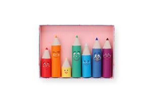 色鉛筆の家族の写真素材 [FYI01380639]