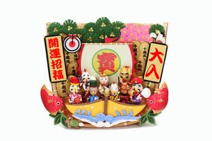 酉の七福神と宝船の写真素材 [FYI01381283]